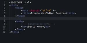 Fuente Ubuntu Mono
